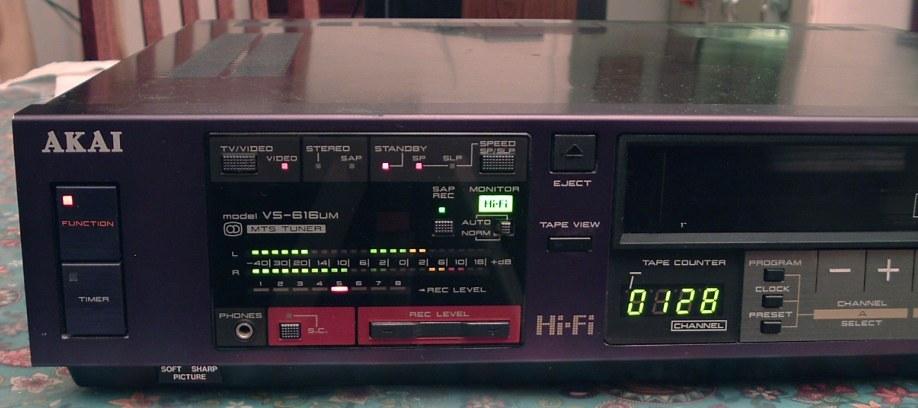 Akai Hi Fi Stereo Vhs Vcr Model Vs 616um