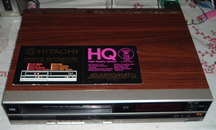 Hitachi VHS VCR model VT-1100A, Manufactured in 1986 and 1988