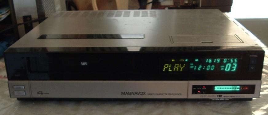 magnavox vhs vcr model vr8445sl01