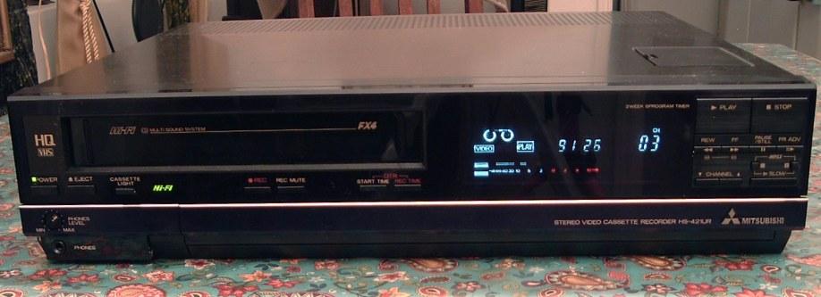 Mitsubishi Hi Fi Stereo Vhs Vcr Model Hs 421ur