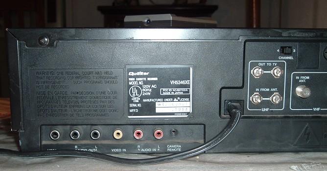 Best Bet Auto >> Quasar VHS VCR Model VH5346XE